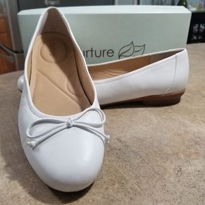 Almost new white flats still in the box